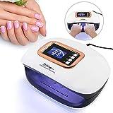 Déshydrateur d'ongles 72 W Lampe UV LED avec 36 capteurs lumineux et automatiques et 4 minuteurs pour 2 mains à séchage rapide...