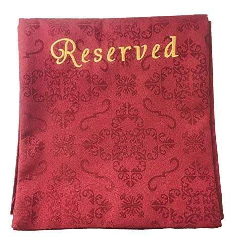 Embroidered Jacquard Reserve Pew Cloths Pack of 4 (Burgundy)