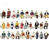 人間 人形 人物 人間フィギュア 着席人 座っている人形 塗装人 1:87 60本入り 情景コレクション 箱庭 装飾 鉄道模型 建物模型 ジオラマ 教育 DIY