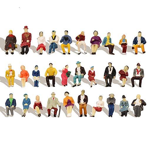 Evemodel P8711 NEU 60 STK. verschieden sitzende Figuren Spur H0 1:87