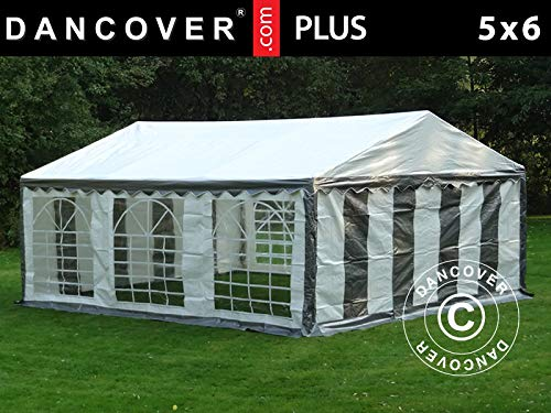 Dancover Partytent PLUS 5x6m PE, Grijs/Wit