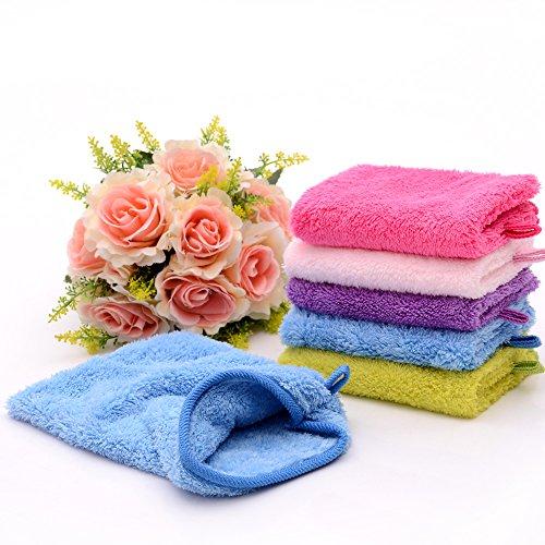 YSN Home Collection YSN102 - Hochwertige Waschhandschuhe - 16 x 22cm - 4 STÜCK Premium Qualität - Gemischte Farben - extra weich - 80% Polyester 20% Polyamid