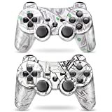 Puning 2Pack Wireless Controller for PS3 Controller, Wireless Controller with Upgraded Joystick Compatible with Sony Playstation 3(Cash and Machine)