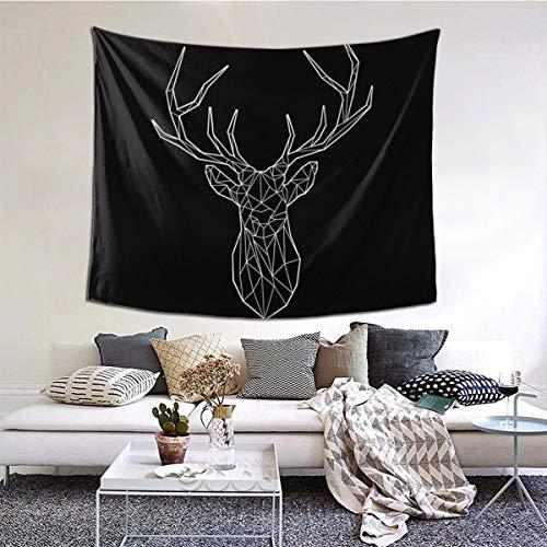 Daisylove - Tapiz de pared con diseño geométrico de ciervo hippie para colgar en la pared, tapiz psicodélico para decoración del hogar, sala de estar, dormitorio, estudiante, dormitorio, TV Telón de fondo, 152 x 51 pulgadas
