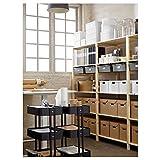DiscountSeller RÅSKOG - Carrito de mesa, color negro, 35 x 45 x 78 cm, resistente y fácil de cuidar, mesitas auxiliares, mesitas de café y mesas, mesas, escritorios, muebles ecológicos