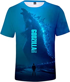 God-Zilla King of The Monsters Funny Pattern 3D Print Short Sleeve Anime t Shirt for Men and Women