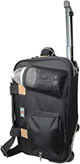 """17"""" Rolling Personal Item Under Seat Luggage for Virgin Australian, Sun Country, Alaska, Delta Airlines (Black)"""