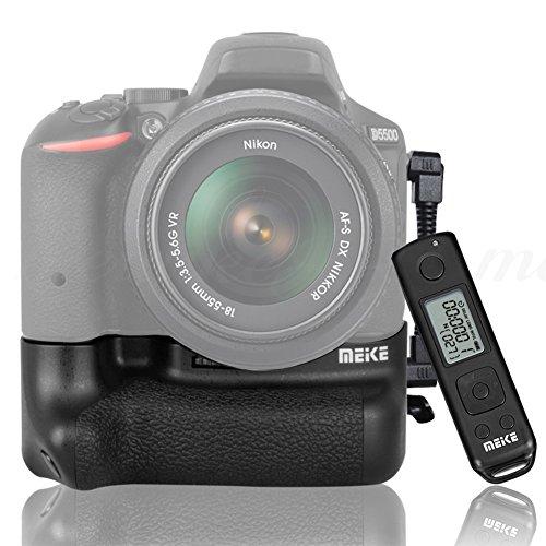 Meike Vertical Battery Grip for Nikon D5500 Built-in 2.4G LCD Display...