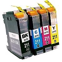 brother LC211-4PK(BK/C/M/Y) 【4色セット】 Hyper互換インクカートリッジ 【nasia+製】 (最新型ICチップ/残量検知/製品1年保証付き) LC211 211