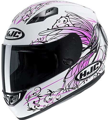 Casco moto HJC CS 15 NAVIYA MC8, Bianco/Pink, S