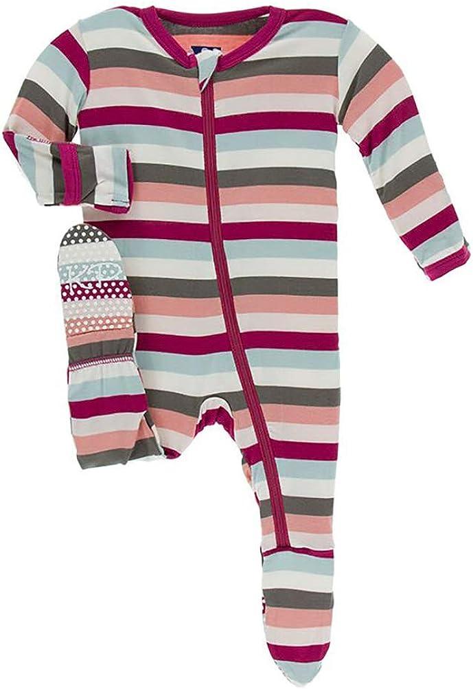 KicKee Pants Print Footie with Zipper