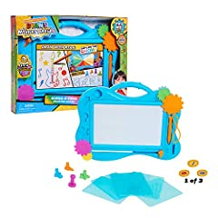 Ryan's Mystery Playdate Guess-O-Tron Drawing Board features sounds and includes 6 stencils, 5 stampers, and 1 mystery coin stamper. Which mystery coin stamper will you get? Plays the Ryan's Mystery Playdate theme song and classic Guess-o-tron sounds ...