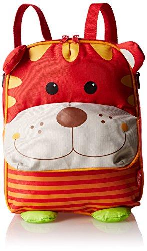 sigikid, Mädchen und Jungen, Kinder Rucksack und Umhängetasche, Tiger, Rot, 24664