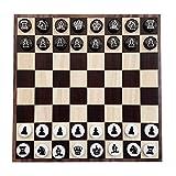 LTCTL ajedrez Ajedor De Ajedrez Magnético con Piezas De Ajedrez Magnético EVA Y Se Puede Enrollar El Tablero De Ajedrez De Hierro Suave Juego de ajedrez (Color : Black and White Chessboard Set)