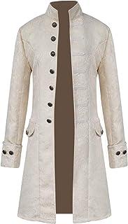FuliMall Cappotto Lungo da Uomo Steampunk Gothic Vintage Giacca Uomo Inverno Caldo Vintage Frac Giacca Cappotto Outwear Bo...