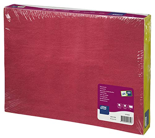 Tork 474503 Manteles individuales desechables Advanced / 1 capa/Salvamanteles de papel / 500 manteles / 42 cm x 31 cm/color burdeos