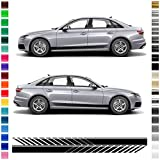 AutoDress – Juego de pegatinas para Audi A4 en color negro mate