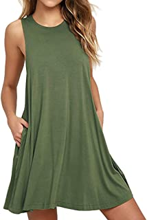 Beauty/&YOP Womens Dresses Summer Casual Dress Sleeveless Print Irregular Hem Dress