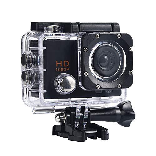 SJ5000X Action Cam,Huhu833 4K Action Kamera/Unterwasserkamera 120°Ultra Weitwinkel Full HD Sports Kamera mit 12MP 2 Zoll LCD Bildschirm Unterwasser 30m Wasserdicht (Schwarz)