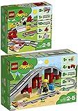 BRICKCOMPLETE Lego Duplo 10882 - Juego de 2 carriles y puente ferroviario 10872