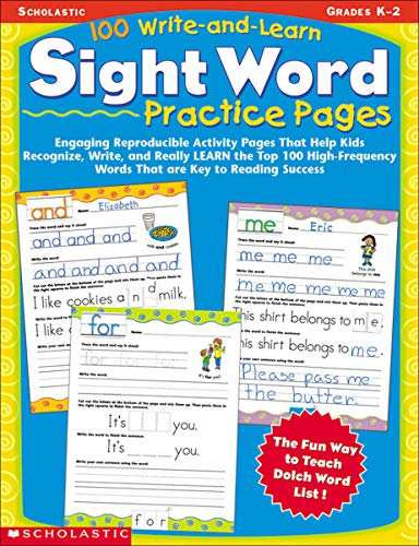 100 Write-and-Learn Sight Word Practice Pages: Engaging Reproducible Activity Pages