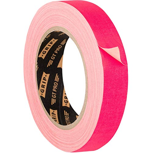 GRIP Eventbasics GT PRO Neon Tape neonpink, 25 mm x 25 m, Schwarzlicht Gaffa Tape UV-aktiv, matt