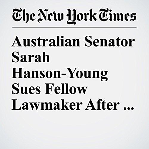 Australian Senator Sarah Hanson-Young Sues Fellow Lawmaker After Sexist Remark audiobook cover art