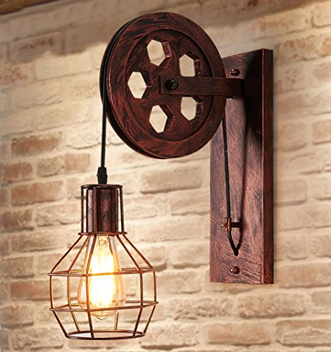 Rétro Luminaire Applique Murale Style Industriel Réglable Finition de Laiton Éclairage Vintage Edison Lampe Douille E27 pour Décoration Wall Light de Maison , Bar , Restaurants, Café, Club