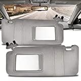 Make Auto Parts Manufacturing Set of 2 Left or Driver and Right or Passenger Side Gray Windshield Sun Visors for Toyota Camry...