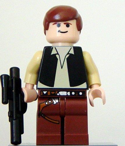 LEGO Star Wars Minifigur - Die Rückkehr der Jedi-Ritter - Han Solo, Schwarze Weste, Fleisch