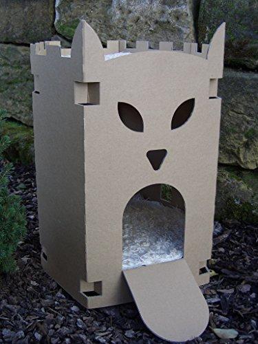 arteco-4pfoten.de Katzenburg aus Wellpappe - Katzenkorb, Katzenhöhle, Katzenhaus, Katzenschloß