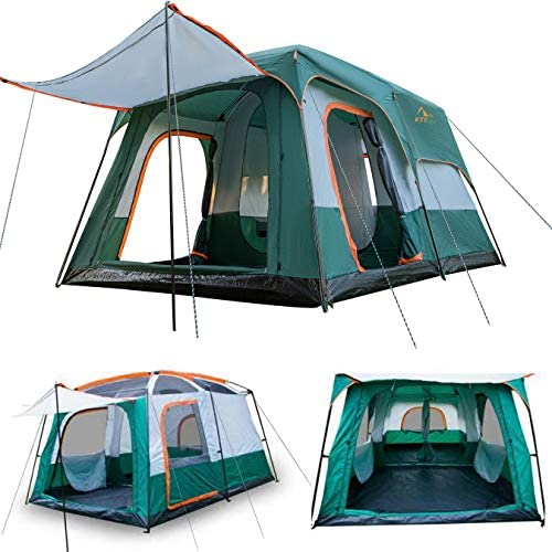 KTT Extra Large Tent 12 Person Family Cabin Tents for Camping Waterproof 2 Rooms Double Layer product image