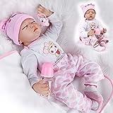 ZIYIUI DOLL Muñecos Bebé Reborn Niña Realista Silicona Suave Recién Nacido Dormir Juguetes 22 Inch 5...