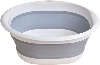 Lavabo pliable Bassin pliable - Nouveau portable en plastique Lavabos pliant blanchisserie Organisateur Box Salle de bain ...