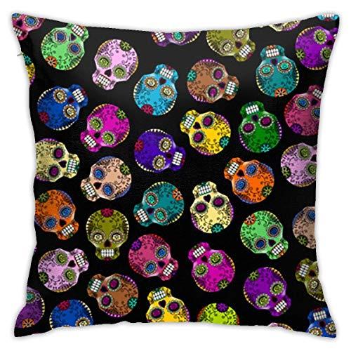 Fundas de Almohada de Color Mini Calaveras Fundas de Almohada Decorativas de patrón Natural Fundas de Almohada Decorativas de 40X40 Cm para el hogar y el Coche