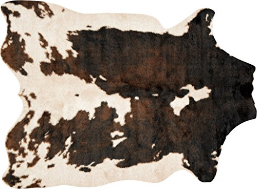 Loloi II GC-05 Grand Canyon Collection Faux Cowhide Area Rug, 6'-2