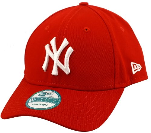 New Era 9forty Strapback Cap MLB New York Yankees #2508, One-size-fitts-all, Weiss/Rot / New-York-Yankees