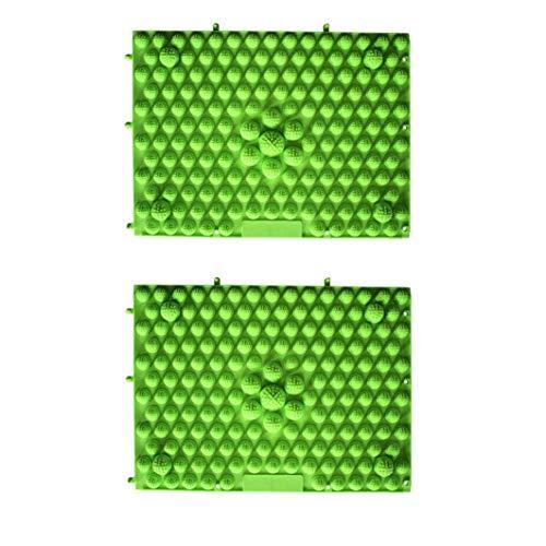 shentaotao 2st 29x39cm Anti-rutsch-fußmassage Mat Akupressur Fußreflexzonenmassage Gehen Toe Platte Yoga Pad (rot Grün) Gesundheit Und Schönheit