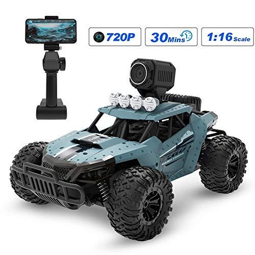 DDT Ferngesteuertes Auto RC Auto Mit Kamera 720P 2.4Ghz Funkfernsteuerung Hohe Geschwindigkeit Geländewagen 1:16 Fernbedienung Racing Rennauto Spielzeug,Für Erwachsene Und Kinder