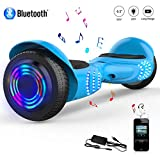 COLORWAY Hoverboard Overboard Gyropode Bluetooth SUV 6.5 Pouces, Scooter Electrique Moteur 700W Tout-Terrain, Self-Balance Board avec Roues LED Flash, E-Scooter Auto-équilibrage
