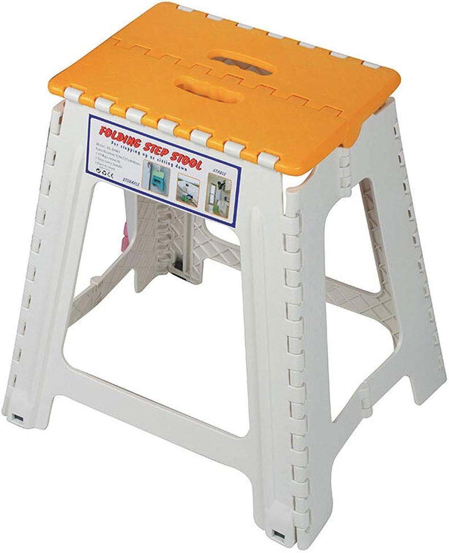 150KG Heavy Duty Folding Step Stool Super Strong Multi Purpose Plastic Home Kitchen Foldable Easy Storage (color   orange)