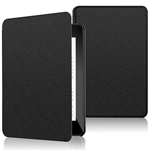 ELTD Hülle für Kindle Paperwhite 10,Ultra Lightweight Flip mit Eingebautem Magnet PU Leder Hülle für Amazon Kindle Paperwhite 10,Generation-2018 (Schwarz)