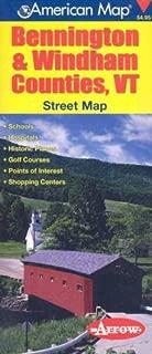 American Map Bennington & Windham Counties, VT