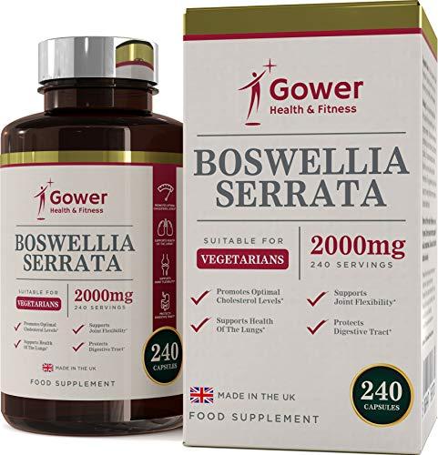 GH Boswellia Serrata Capsules | 240 Vegan Gelules Pour 4 Mois | Encens Indien | Soins des Articulations Supplément | Anti Inflammatoire et Musculaire Naturel Puissant | Sans OGM & Gluten…