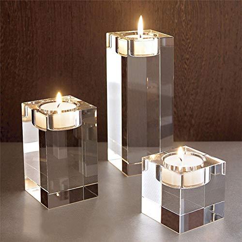 Quskto romantische kandelaar, kristallen cilinder, theepotten, kandelaar, kandelaar, kandelaar, kandelaar, kandelaar, kandelaar voor bruiloft en bruiloft, heldere decoratie voor alle gelegenheden