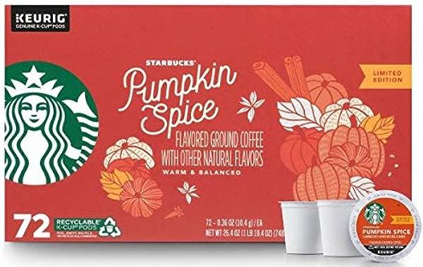 Starbucks Coffee K Cups Pumpkin Spice 72 Ct