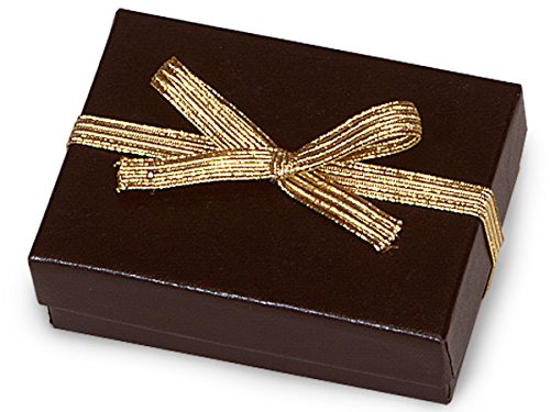 Pack of 50, 6' Met. Gold Stretch Loops 1/4' Wide Elastic Ribbon w/Bow Great for Smaller Apparel, Stationery, Jewelry Boxes & Gift Boxes