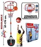 StrMy CANESTRO Basket PIANTANA E TABELLONE Regolabile SEGNAPUNTI ELETTRONICO E Palla