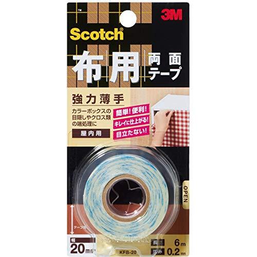 3M スコッチ 布用両面テープ 強力薄手 20mm×6m KFB-2...