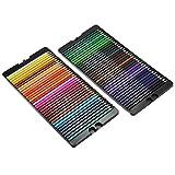 Juego profesional de 72 lápices de colores, lápices de colores aceitosos, artistas, suministros de arte para estudiantes o niños